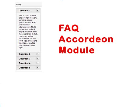 FAQ Accordeon Module