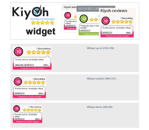 Kiyoh widget module