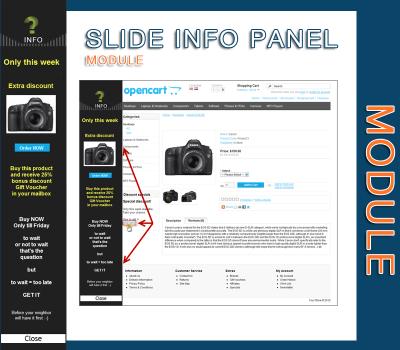 Slide info panel